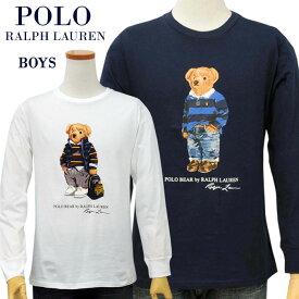 POLO by Ralph Lauren Boy's ポロベアー長袖プリントTシャツ【2020-Fall/NewModel】送料無料
