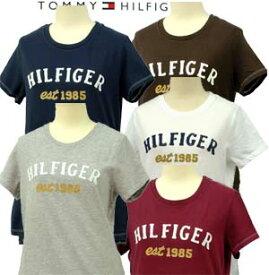 Tommy Hilfigerトミーヒルフィガー レデイ-ス アップリケロゴ 半袖 Tシャツ