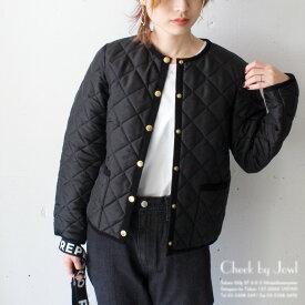 Traditional Weatherwear / トラディショナルウェザーウェア キルティングノーカラージャケット ARKLEY / アークリー ブラック