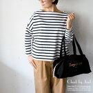 TraditionalWeatherwear/トラディショナルウェザーウェアBIGMARINEBOATNECKSHIRT/BMBビッグマリンボートネックシャツホワイト×ブラック