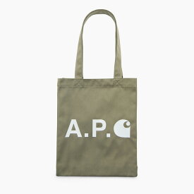 A.P.C. x CARHARTT WIP / アーペーセー×カーハート LOGO TOTE BAG / ロゴトートバッグ カーキ
