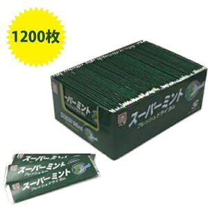 ヘテ スーパーミント フレッシュドライガム 1200枚 業務用 大容量 100枚×12箱セット 【送料無料】
