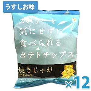 テラフーズ 焼きじゃが PREMIUM うすしお味 31g×12袋セット スナック菓子 ノンフライ ポテトチップス