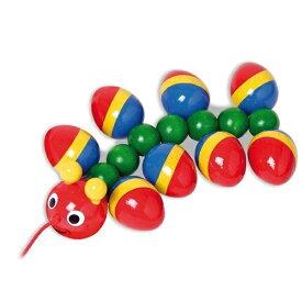 【ポイント5倍!】【送料無料】 木のおもちゃ ニック社 WALTER むかで 木製 プルトイ 知育玩具