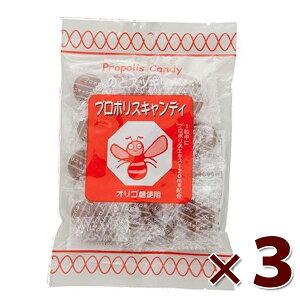 【送料無料】 プロポリスキャンディ 100g×3個セット のどスッキリ Propolis Candy のど飴 飴 オリゴ糖使用 免疫力