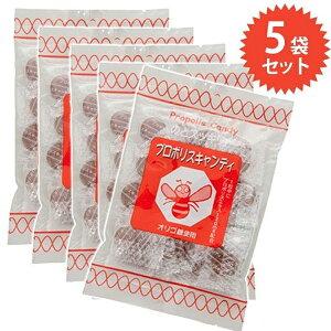 【送料無料】 プロポリスキャンディ 100g×5個セット のどスッキリ Propolis Candy のど飴 飴 オリゴ糖使用 免疫力