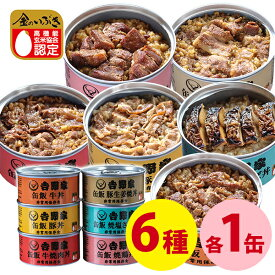 【送料無料】 吉野家 缶飯 6種類バラエティセット 6缶セット 牛丼 豚丼 焼鳥丼 焼肉牛丼 豚しょうが焼 焼塩さば