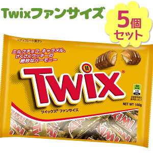 【送料無料】 チョコレートバー ツイックス ファンサイズ 160g×5袋セット 個包装 大量 輸入菓子 おやつ ばら撒き バレンタイン Twix