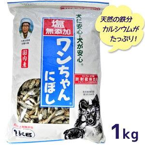 【送料無料】 犬 おやつ 塩無添加 国産 ワンちゃんにぼし お徳用 1kg 犬用 おつまみ煮干し ドッグフード 大容量 サカモト