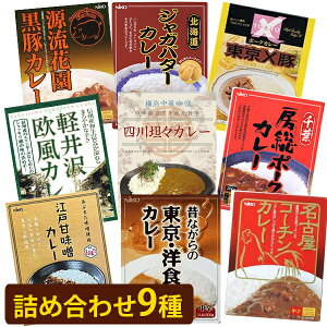 【送料無料】 ご当地 レトルトカレー 詰め合わせ 9種類セット 東日本 食品 食べ比べ 美味しい ギフト お土産 贈り物 お祝い 引越し お中元 お歳暮 一人暮らし