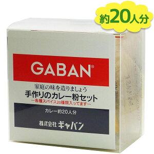 【送料無料】 GABAN ギャバン スパイス 手作りのカレー粉セット 100g カレーペースト 食塩無添加 カレーライス 香辛料 調味料 減塩 塩分控えめ 美味しい 業務用 大容量