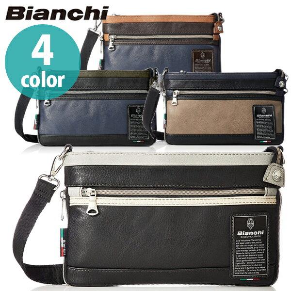 【ポイント15倍!】【送料無料】 Bianchi ビアンキ ミニショルダーバッグ 全4色 TBPI-10 合成皮革 おしゃれ 2WAY クラッチバッグ ショルダーバッグ