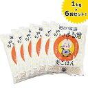 【送料無料】 西田精麦 毎日健康 ぷちまる君 1kg×6袋セット 熊本県産 国産大麦100% 国産 麦ごはん 押し麦