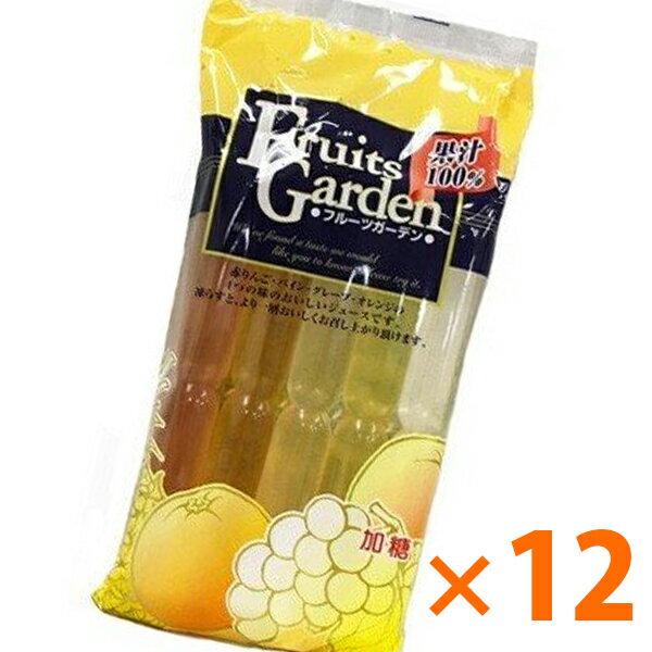 【送料無料】 マルゴ食品 果汁100% フルーツガーデン 10本入り×12袋セット チューペット おやつ アイス ジュース
