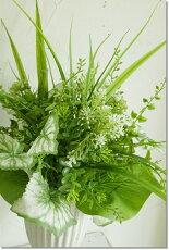 グリーンブーケライトグリーン造花アートフラワーインテリアグリーン観葉植物フェイクグリーン消臭抗菌光触媒巾30×高さ34cm