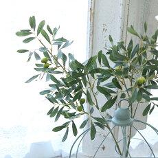 アンティーク風雑貨造花ベリー実物観葉植物インテリアグリーン造花オリーブロングライトグリーン長さ87cm