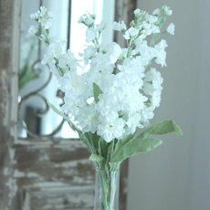 造花おしゃれインテリアアーティフィシャルフラワーフェイクグリーンストックホワイト花径3〜5×丈60cm