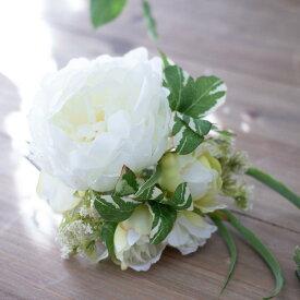造花 花束 ブーケ ナチュラル ピオニー ウィディングブーケ トスブーケ 花材ピオニーブーケ(ピンクorホワイト)/花径3.5〜9×高さ21cm