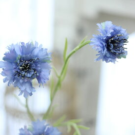 造花 おしゃれ ブーケ パーツ フェイクグリーン矢車草 ブルー花径4〜7×丈75cm