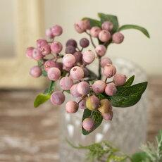 造花ベリー実物フェイクグリーンインテリアグリーンオリビア(モーブ)