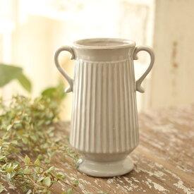 陶器花瓶 エレナ ラウンドS アンティークグレー アンティーク風 フラワーベース アンティーク調 フレンチベース ピッチャー 巾11.5×奥行7×高さ15.5cm /0511