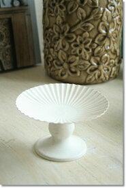 アンティーク風 雑貨 シェル風 トレー ホワイト Φ12.5×高さ7.5cm
