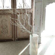 花瓶筒形白ガラスシーリンググラスおしゃれフラワーベース直径14×高さ35cm