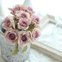 造花 花束 花材 パーツ ブーケ ナチュラル バラ ウェディングブーケ トスブーケ 花材バラ(花径4.5〜6.5) 丈26×巾13cm…