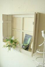 アンティーク風窓枠ディスプレイウィンドウPetitmondeホワイトアンティーク雑貨インテリア雑貨