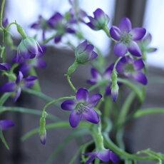 造花小花インテリアフェイクグリーンアーティフィシャルフラワーカンパニュラパープル花径2〜3cm×長さ67cm