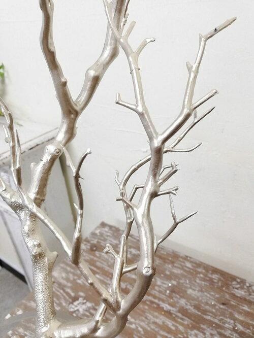 ウェルカムツリーマンザニータインテリア枝フェイクグリーン木クリスマスツリーディスプレイブランチツイッグシャンパン巾23cm×高さ66cm