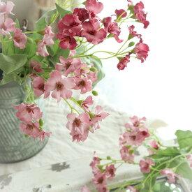 造花 花束 花材 パーツ ブーケ ナチュラル バラ ウェディングブーケ トスブーケ 花材ブロッサム(花径2.5〜4cm) 丈43cm  1202/
