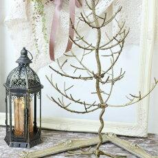 木ツリークリスマスツリーオーナメント飾り店舗什器1点/ゴールド/折り畳み式W43×H63cm