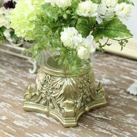 アンティーク風 雑貨 ガラスベース アンティーク風花瓶 巾13×奥行13×高さ18cm