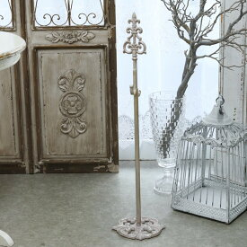 アンティーク風 雑貨 リーススタンド ピンクゴールド 伸縮可【Wreath stand nature 高さ80〜111.5cm】