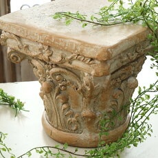 フラワースタンドゴールドアンティーク調花台巾25×奥行25×高さ23cm