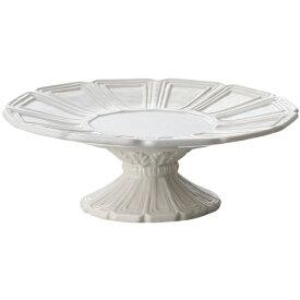 花瓶 おしゃれ 陶器 フレンチ フレンチカントリー アンティーク風 フラワーベース アンティーク調 フレンチベース コンポート ライトグレー Φ20cm×高さ7cm
