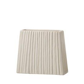 アンティーク風 雑貨 陶器 花瓶 モダンベース アイボリー 巾26×奥行8.5×高さ23cm