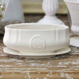 花瓶 おしゃれ 陶器 白 アンティーク調 一輪挿し プリンセスベース M ホワイト 直径18×奥行8×高さ8cm