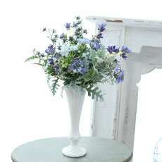 花瓶おしゃれ一輪挿しアンティーク風雑貨陶器花瓶トラディショナルベースマットホワイトΦ8.5cm×高さ24cm