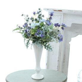 花瓶 おしゃれ 一輪挿し アンティーク風 雑貨 陶器 花瓶 トラディショナルベース マットホワイト Φ8.5cm×高さ24cm/0511
