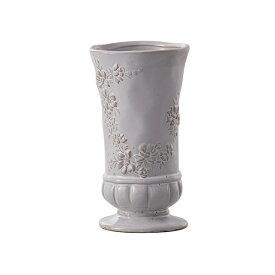花瓶 おしゃれ 陶器 フレンチ フレンチカントリー アンティーク風 フラワーベース アンティーク調 フレンチベース アンティークグレー Φ10×高さ18cm