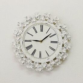 掛け時計 おしゃれ アンティーク風 雑貨 コベントガーデン フラワーデイジークロック アンティーク壁掛け時計 Φ34×奥行4.5cm