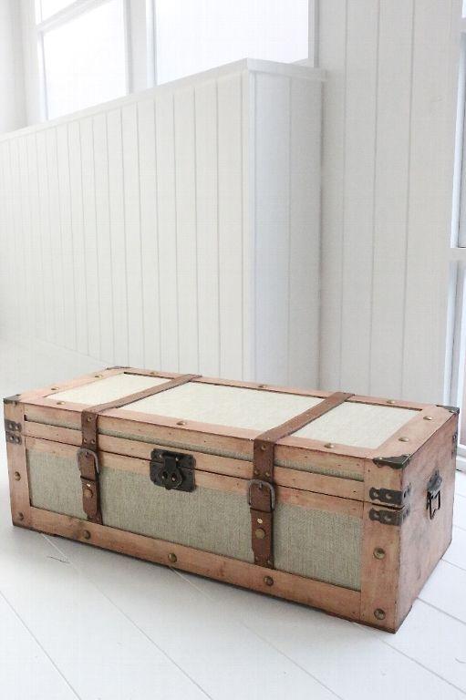 アンティーク風 雑貨 コベントガーデン サンジュートチェスト アンティーク風トランクボックス 巾71×奥行32×高さ23.3cm