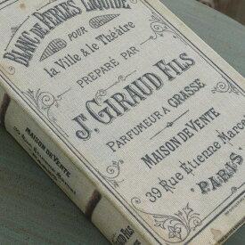 アンティーク風 雑貨 コベントガーデン オールドパルファン ブックボックス 1点 巾13×奥行20.5×高さ4cm