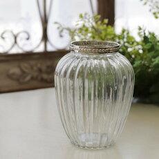花瓶おしゃれアンティーク一輪挿し【リムリング・トールベース】コベントガーデン