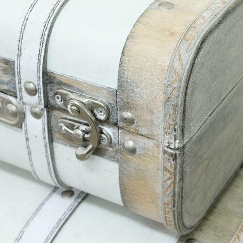 コベントガーデンラテアールトランク2点セットアンティーク風トランクボックス巾45×奥行30.5×高さ17.5cm+巾38×奥行23.5×高さ14.2cm