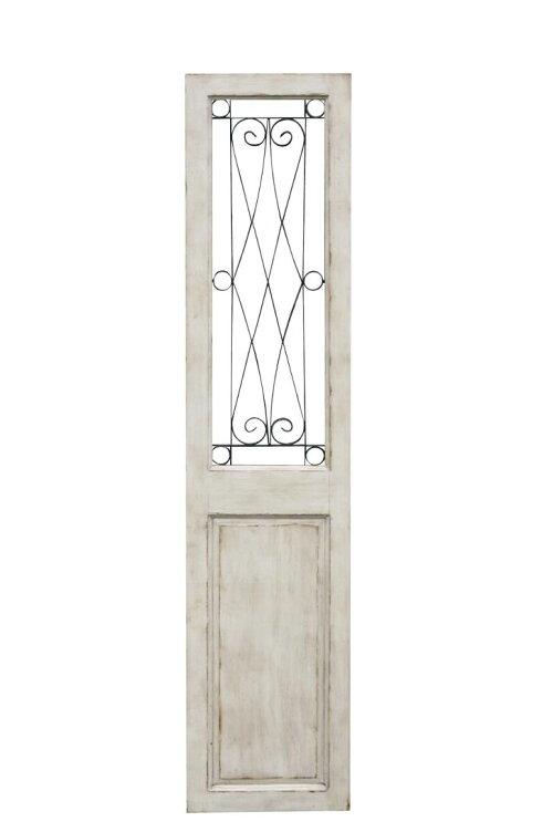 【送料無料】インテリアアンティークドア戸シャビーシックフレンチ店舗什器【ホワイトグリル・ドア】コベントガーデン