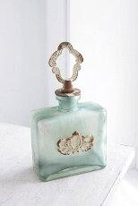 花瓶おしゃれボトルガラスアンティーク風雑貨コベントガーデンベルデボトルベースガラス花瓶Φ10×高さ18cm/0511