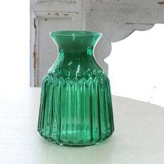 花瓶おしゃれガラスアンティーク風雑貨コベントガーデンベルデボトルベースガラス花瓶Φ10×高さ14.5cm